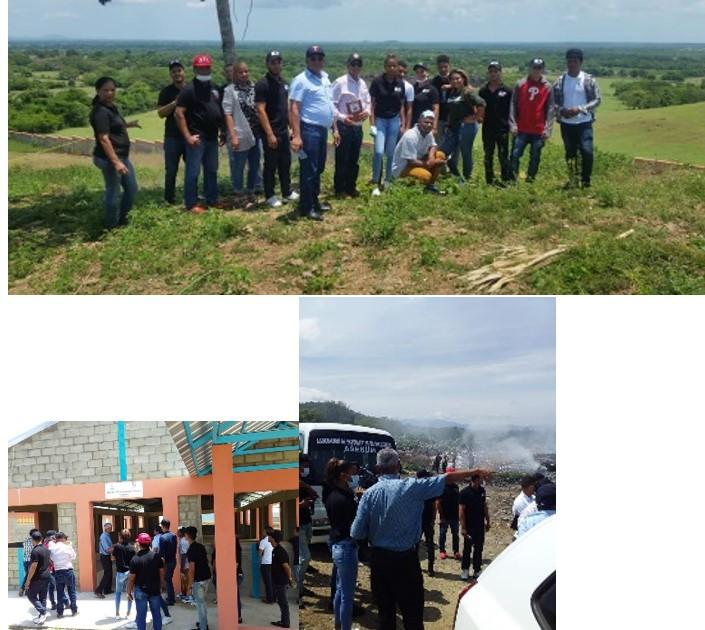 Funcionarios del ayuntamiento de Las Matas de Santa Cruz, Visitan nuevo vertedero  de Dajabon